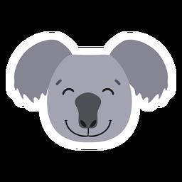 Etiqueta lisa feliz do nariz principal do Koala
