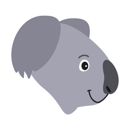 Adesivo para o nariz de cabeça de coala