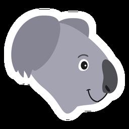 Etiqueta engomada plana nariz nariz Koala