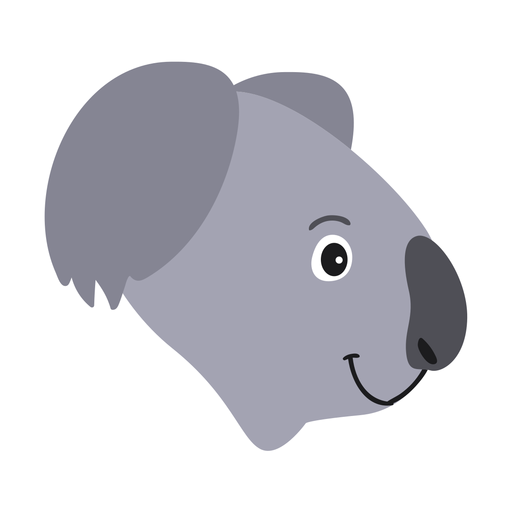 Adesivo para o nariz de cabeça de coala Transparent PNG