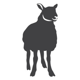 Lamb sheep wool hoof silhouette