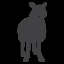 Silueta de pezuña de lana de cordero