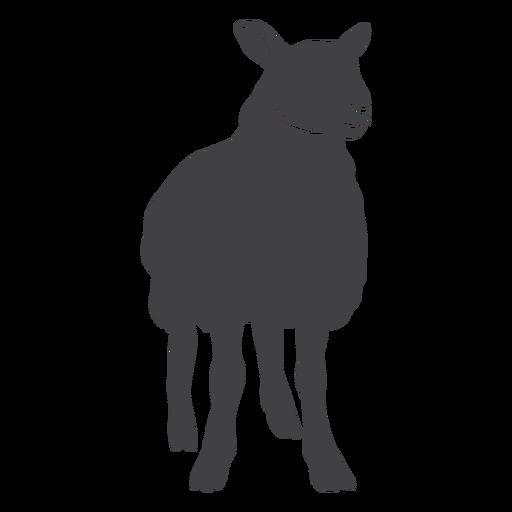 Lamb sheep wool hoof silhouette Transparent PNG