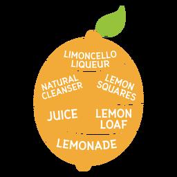 Limón limoncello licor limpiador natural cuadrados jugo pan lenonade plana
