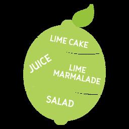 Folha de limão bolo suco marmelada salada plana