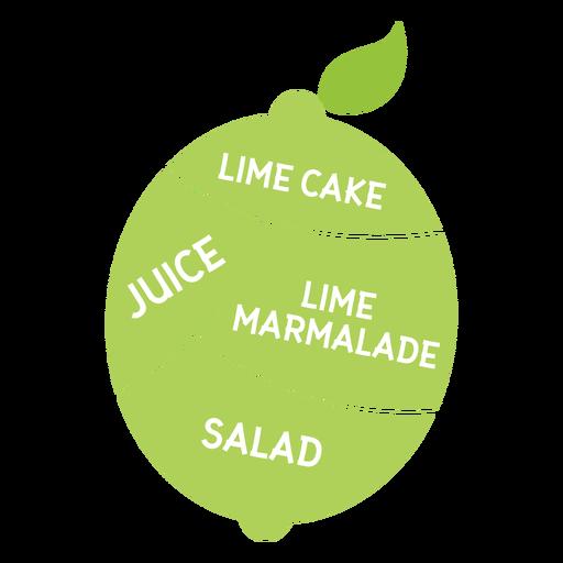 Folha de limão bolo suco marmelada salada plana Transparent PNG