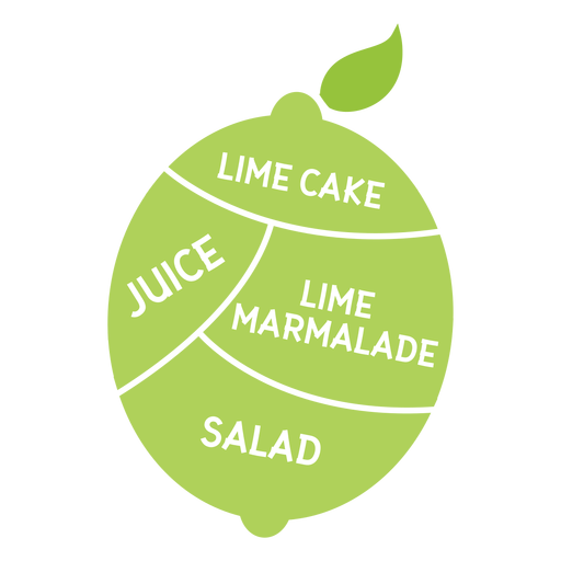 Lime leaf cake juice marmelade salad flat Transparent PNG
