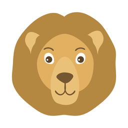 Lion head mane muzzle flat sticker