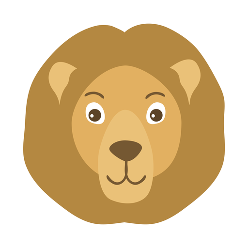 Lion head mane muzzle flat sticker Transparent PNG