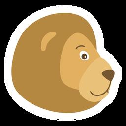 Lion head muzzle flat sticker