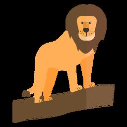 León rey rama cola melena plana