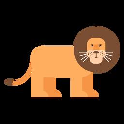 León rey melena cola plana redondeada geométrica