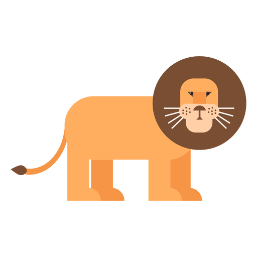 Lion king mane tail flat rounded geometric Transparent PNG