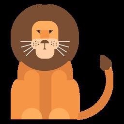 Rei leão cauda juba plana arredondada geométrica
