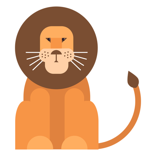 Lion king tail mane flat rounded geometric Transparent PNG