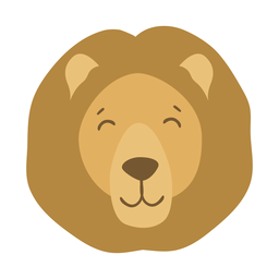 Lion mane head muzzle flat sticker
