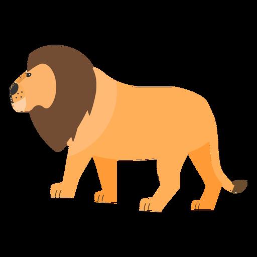 Lion mane king tail flat Transparent PNG