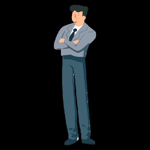 Man jacket tie trousers flat Transparent PNG