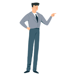 Chaqueta hombre corbata pantalon plano