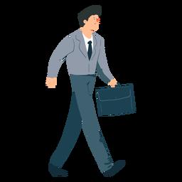 Homem, gravata, casaco, calças, mala, apartamento