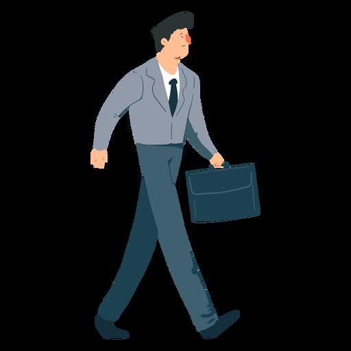 Hombre corbata chaqueta pantalones maleta plana Transparent PNG