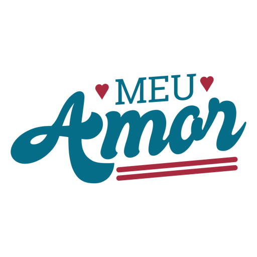 Meu amor portugues text adesivo coração Transparent PNG