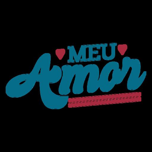 Meu amor portuguese text heart sticker