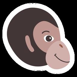 Monkey head flat sticker