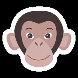 Monkey muzzle flat sticker