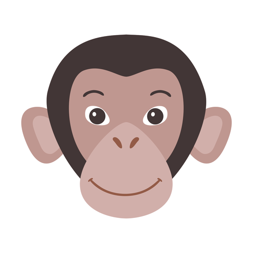 Monkey muzzle flat sticker Transparent PNG