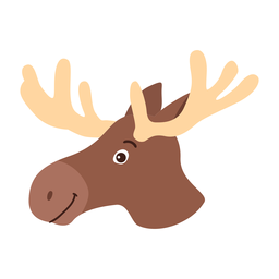 Moose elk antler flat sticker