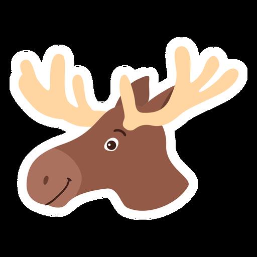 Moose elk antler flat sticker Transparent PNG