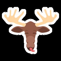Moose elk tongue antler flat sticker