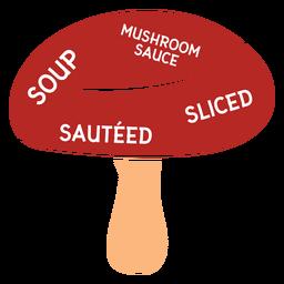 Mushroom soup mushroom sauce sauteed sliced flat