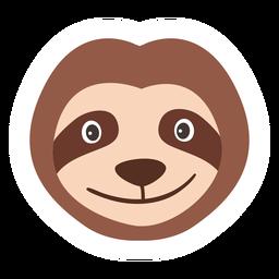 Focinho cabeça de preguiça flat sticker