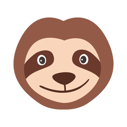 Muzzle sloth head flat sticker