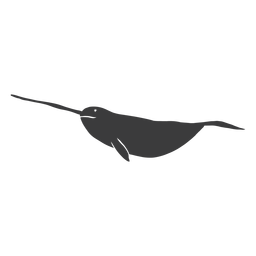 Narwhal flipper tail tusk silhouette