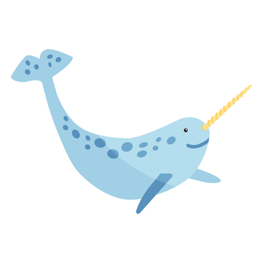 Narwhal tusk flipper tail flat Transparent PNG