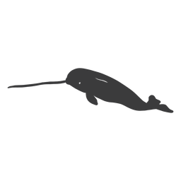 Narwhal tusk flipper tail silhouette