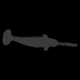Silueta de aleta de cola de colmillo de narval
