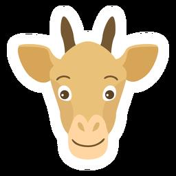 Pegatina plana cabeza de jirafa Ossicones