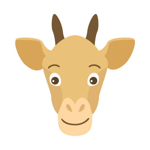 Ossicones giraffe head flat sticker Transparent PNG