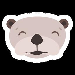 Etiqueta lisa do focinho principal feliz da lontra