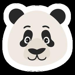 Etiqueta engomada plana del punto del bozal de la cabeza de panda