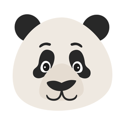 Panda head muzzle spot flat sticker