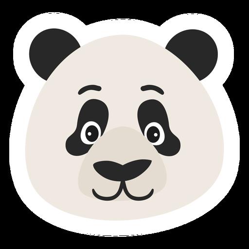 Etiqueta engomada plana del punto del bozal de la cabeza de panda Transparent PNG