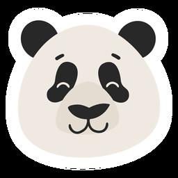 Flacher Aufkleber des Panda-Kopf-Mündungsbereichs