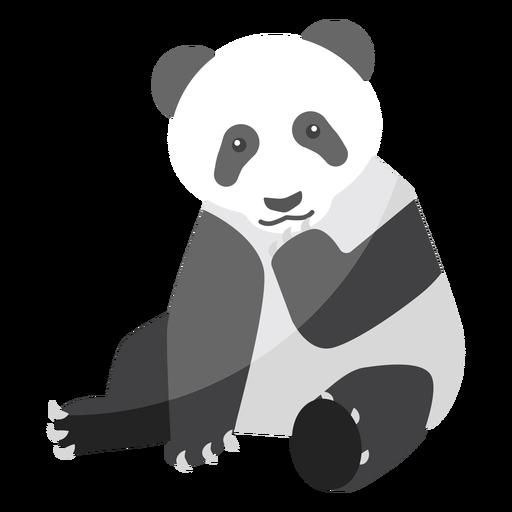 Panda sentado lugar bozal grasa plana Transparent PNG