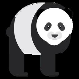 Panda focinho gordura plana arredondada geométrica