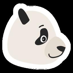 Etiqueta engomada plana del bozal de la cabeza del punto de Panda